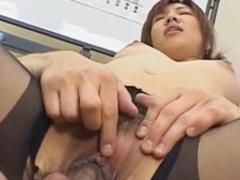 Dejected Misaki Inaba chap-fallen Asian slot